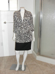 Chicos-Travelers-Jacket-Stretch-Open-Front-Blazer-Size-3