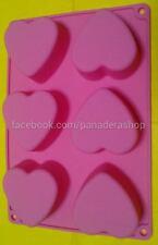 Heart Silicon Rubber Soap Cake Jelly Chocolate Mold Molder Bakeware