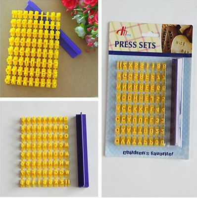 Biscuit Cookie Cutter Press Cake Mould Alphabet Letter Number and Slats