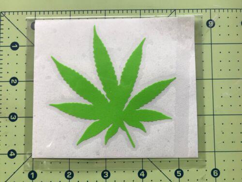 POT LEAF Marijuana Vinyl Decal DieCut Sticker Window Motorcycle Toolbox #134