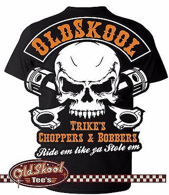 Analitico Oldskool Chopper Bobber Classic Biker Bsa Vintage Ajs Trike Indiano T Shirt S-5xl-mostra Il Titolo Originale I Prodotti Sono Venduti Senza Limitazioni