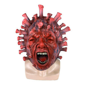 Pandemic Costume Mask 19Covid Scary Humorous C.O.V.I.D Latex Mask for Halloween