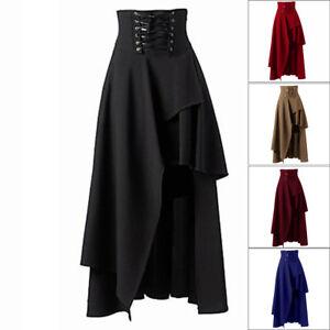 Image is loading 2018-Lace-Up-Renaissance-Skirt -Gothic-Victorian-Irregularity- fa789b532c2