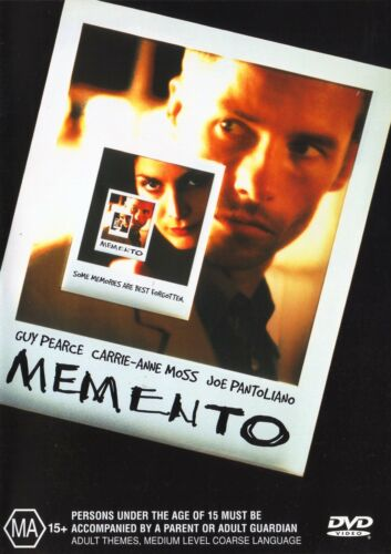 1 of 1 - MEMENTO DVD R4 GUY PEARCE CARRIE ANNE MOSS ***