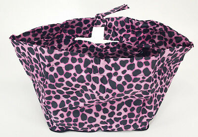 CRUISER CANDY Bike Bicycle Basket Liner Convertible Bag Hot Zebra Pink NEW