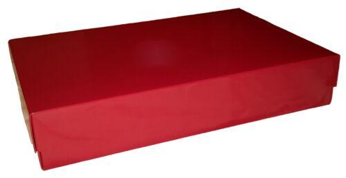 15 x 11 x 5//3,5 cm Gesamthöhe 5 cm Deckel 3,5 cm Geschenkkarton rot Abm