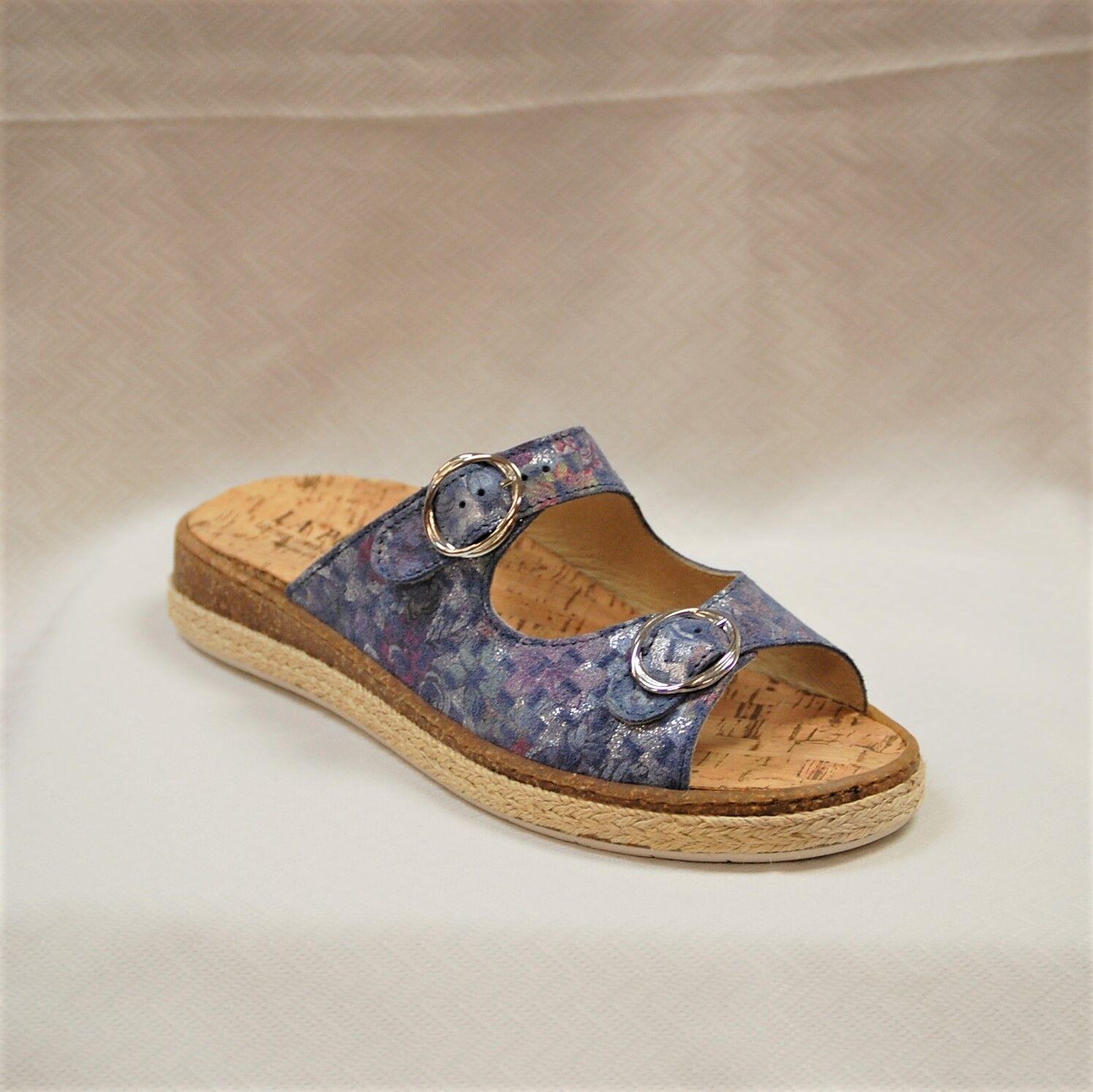 La Plume Jewel bluee Multi  Sandals Sandals Sandals Leather Womens Slide shoes Low Heel size 41 2b951e