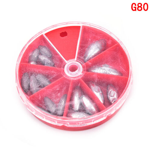 0.8g Fishing Angling Lead Weight Split Shot Rig Sinkers Egg Bullet RGS 0.3g