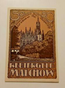 MALCHOW-REUTERGELD-NOTGELD-50-PFENNIG-1922-NOTGELDSCHEIN-10815