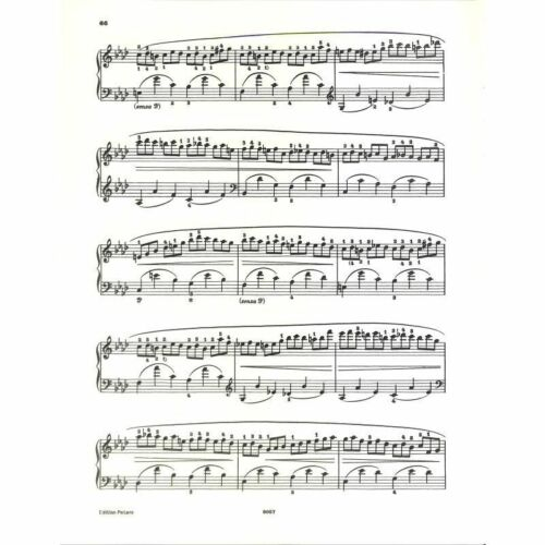Klaviernoten Musiknoten Frédéric Chopin Etüden