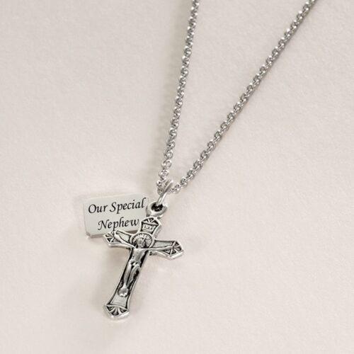 Personalisiert Kruzifix Halskette mit Jede Gravur an Tag Christlich Schmuck