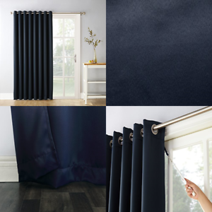 Easton Extra Wide Blackout Sliding Patio Door Curtain Panel W Pull