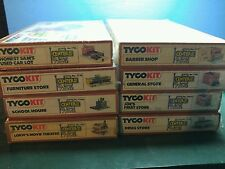 8 Tyco Center Street Kits FACTORY SEALED School Movie Theatre Car Lot +5 stores