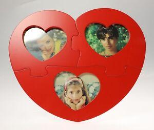 Maricart Cadre Photo  Convertible   Amour Puzzle en Bois Pour 3 Photo 6x7 CM