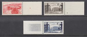 France Sc 573-575 MNH. 1946 Nancy & Cannes, cplt set, fresh, VF sheet margins