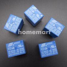 5PCS NEW Mini DC5V SONGLE Power Relay SRD-5VDC-SL-C PCB Type SRD-05VDC-SL-C BLUE