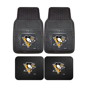 Pittsburgh-Penguins-NHL-2pc-and-4pc-Mat-Sets-Heavy-Duty-Cars-Trucks-SUVs