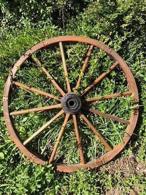 Antiquitäten & Kunst 76 Cm ⭐ Antik ⭐ Knitterfestigkeit RüCksichtsvoll ⭐ Altes Wagenrad ⭐ Holz Mit Eisenbereifung ⭐ Durchmesser Ca Geräte