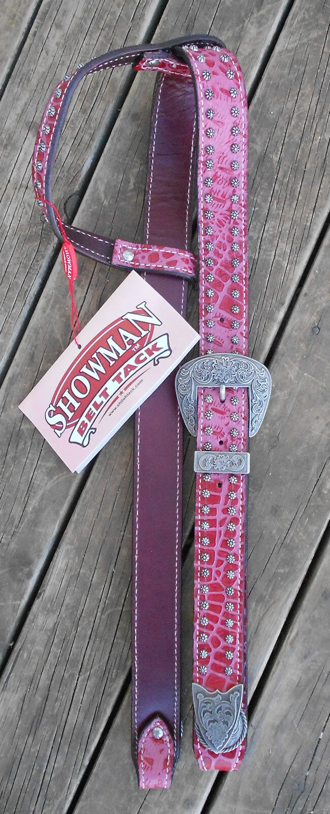BELT STYLE ALLIGATOR PRINT HEADSTALL BRAND  NEW FULL SIZE  new branded