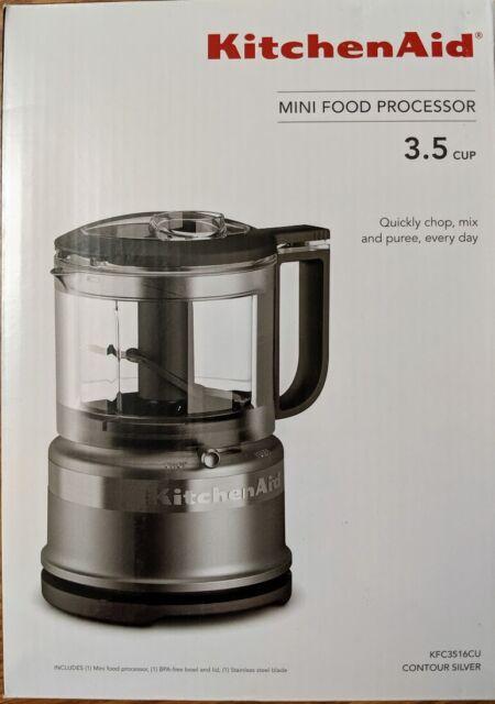 KitchenAid KFC3516CU 3.5 Cup Mini Food Processor - Contour Silver