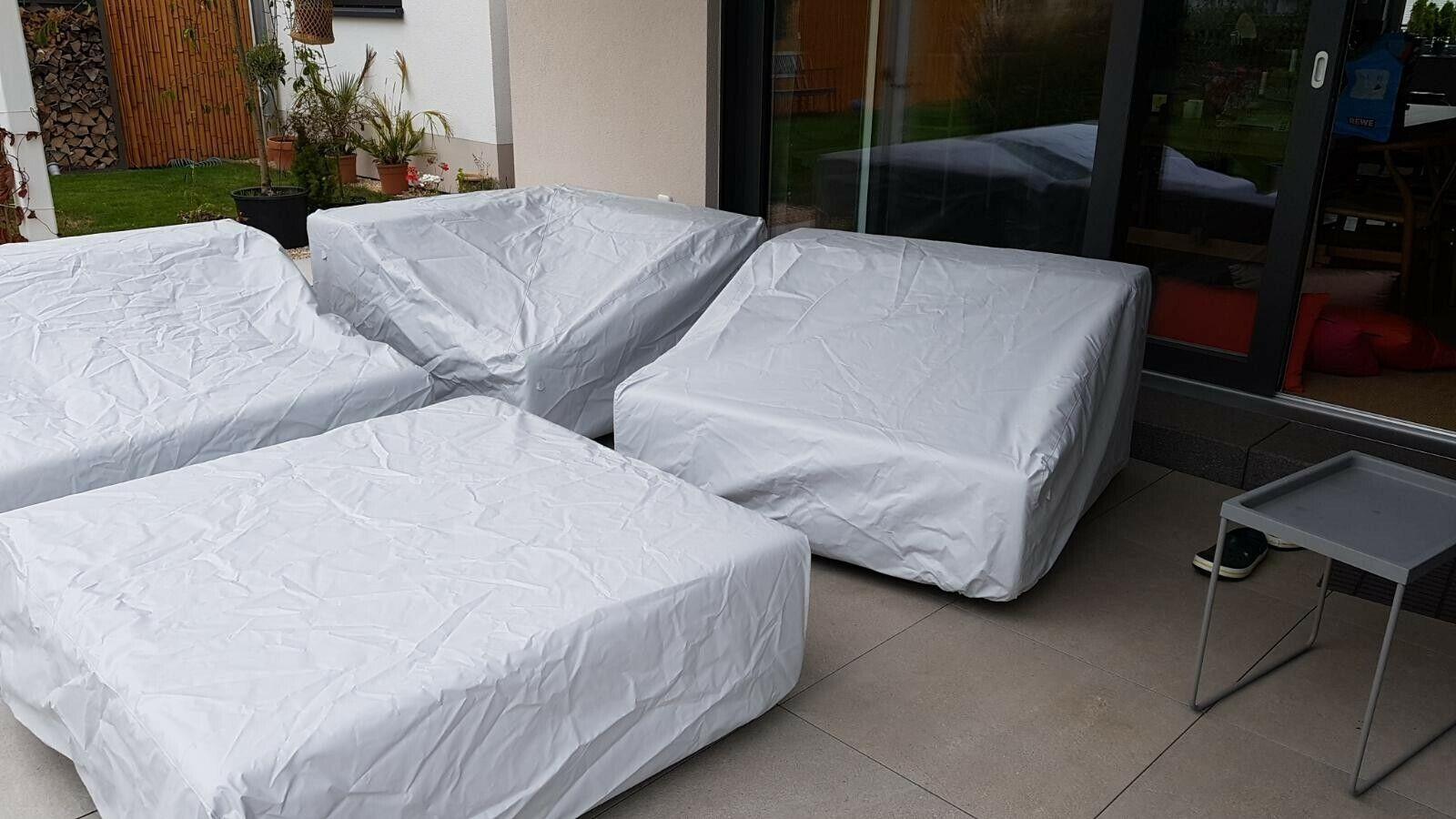 4 Hussen für die LOOP Gartenmöbel von april furniture ++ Persenning ++ perlgrau