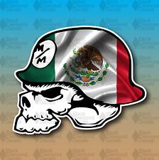 "Metal Mulisha Mexico Flag Mexican 3"" Custom Vinyl Decal Sticker JDM"