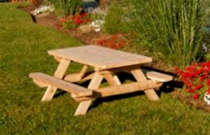 Image Is Loading Kids Amp Childrens Cedar Picnic Table UNFINISHED CEDAR