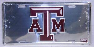 Texas A&M University Aggies Chrome Car Truck Tag License Plate Football Vanity