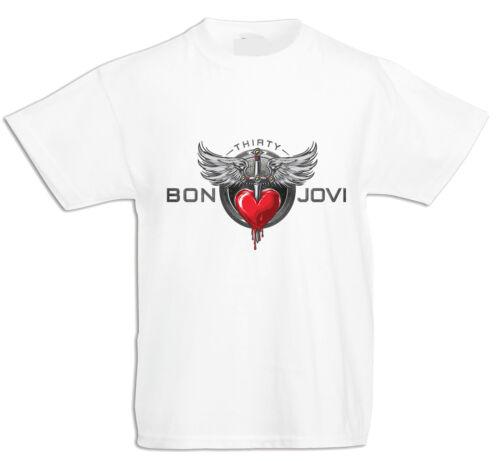 Jungen//Mädchen KURZARM BABY//KID//TODDLER T-Shirt BON JOVI 1 FUN