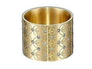 222450e3b4ba9 Michael Kors Mk4289 Heritage Monogram Logo Barrel Ring - Gold, Size 7