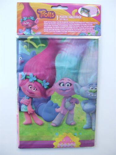 Dreamworks Trolls plástico cubierta de tabla para una fiesta 120 X 180cm