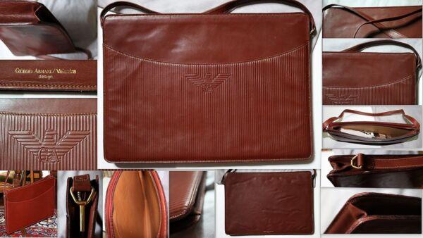 Cartella Portadocumenti Vintage Limited Edition Giorgio Armani - Valextra Pelle