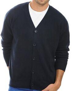 XL Blue 100 cardigan cachemire Night Veste homme de Balldiri 4ply IxT7q8n