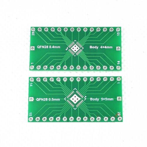 5 PCS QFN28 0.4mm 0.5mm to 2.54mm DIP Adapter PCB Board Converter IC
