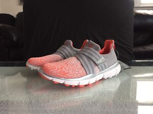 Details about Adidas Golf Climacool Knit Womens Spikeless Sneaker Cleat Onyx Gray Coral Pink 6