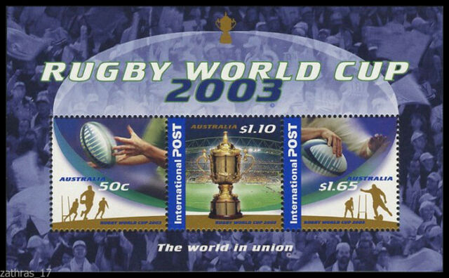 2003 Rugby World Cup - Minisheet of 3 Stamps MUH
