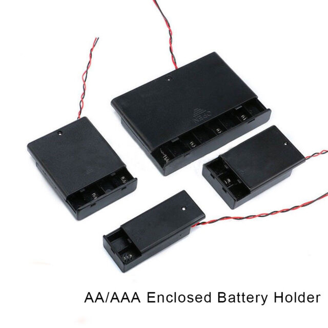 AA/AAA x 1/5/10PCS Enclosed Battery Holder Storage Case Box With Switch Wires