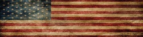 P471 Distressed American Flag Rear Window Tint Graphic Decal Wrap Back Pickup