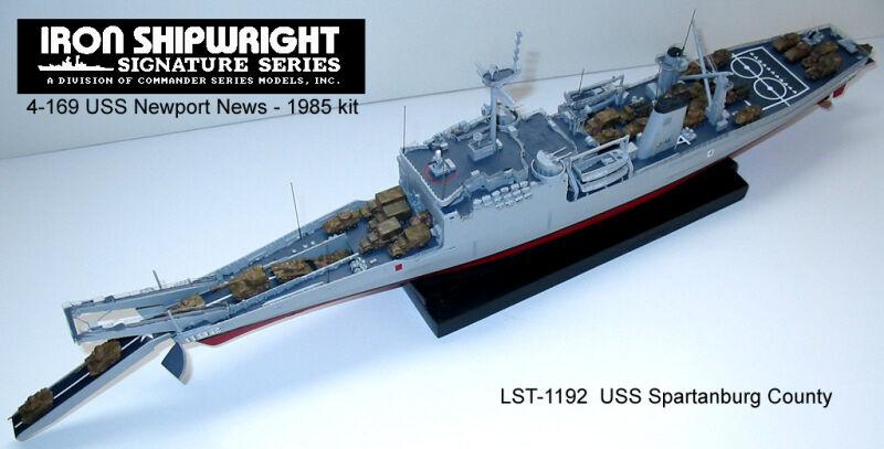 4169 USS Newport LST-1179 Completo Casco Resina & PE Kit 2018 versión