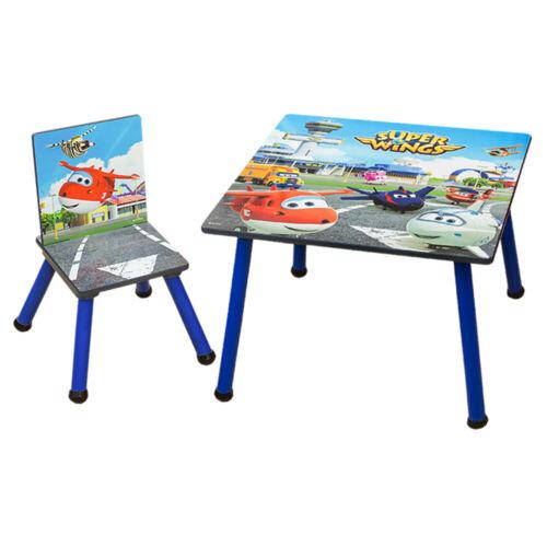 2tlg.Kindersitzgruppe Kinder Schreibtisch 1xTisch und 1xStuhl Super Wings Holz
