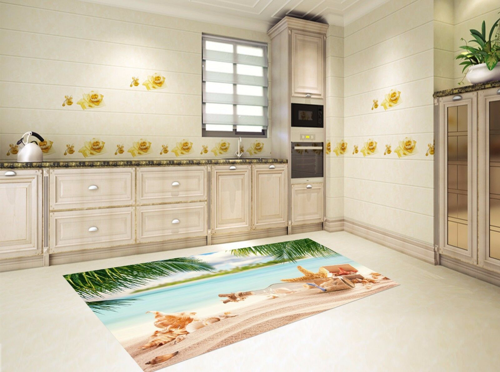 3D Beach View 117 Kitchen Mat Floor Murals Wall Print Wall Deco AJ WALLPAPER AU