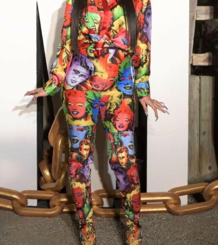 New Style Women Two Piece Long Sleeve Print Bodysuit Long Pants Jumpsuit #J2