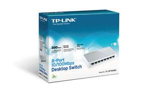 Switch-ethernet-reseau-TP-LINK-8-ports-RJ45-10-100Mbps