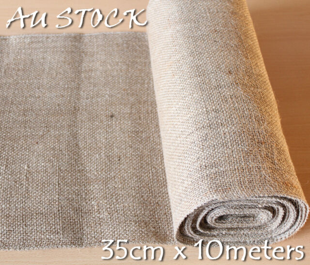 35CM X 10M Hessian Jute Burlap Roll Vintage Wedding Decoration Table Runner