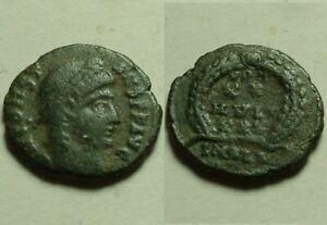 Rare Genuine ancient Roman coin Constans 347 Laurel Wreath of success Alexandria