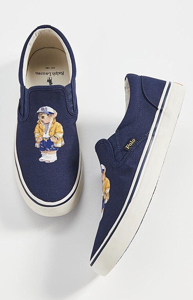 Polo Ralph Lauren Thompson Mens Slip on Espadrille Plimsolls Shoes UK 9 EUR 43