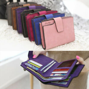 New-Women-039-s-Short-Small-Wallet-Leather-Folding-Coin-Card-Holder-Money-Purse