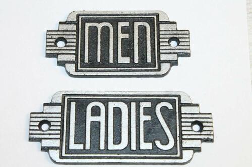 Vintage Style Ladies Men Restroom Signs Cast Iron Gas Station Garage Man Cave