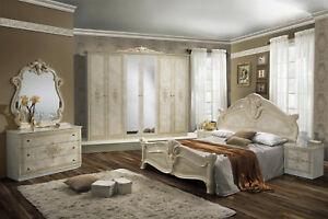 Das Bild Wird Geladen Schlafzimmer Amalia In Beige Creme Klassik Italienisch