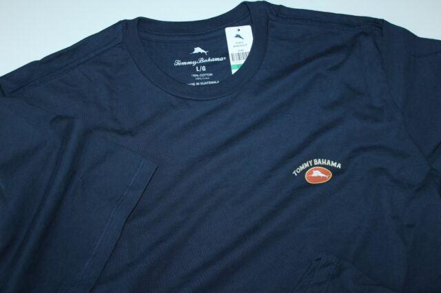 Tommy Bahama T Tee Shirt Marlin Logo Solid Navy Blue Crew Neck XX-Large XXL